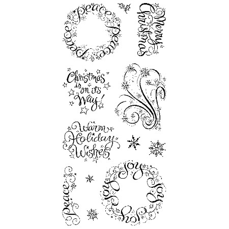 Inkadinkado Clear Stamps - Warm Holiday Wishes