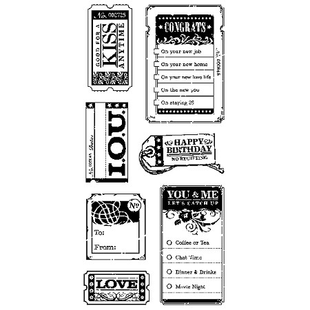 Inkadinkado Clear Stamps - Tickets and Tags :)