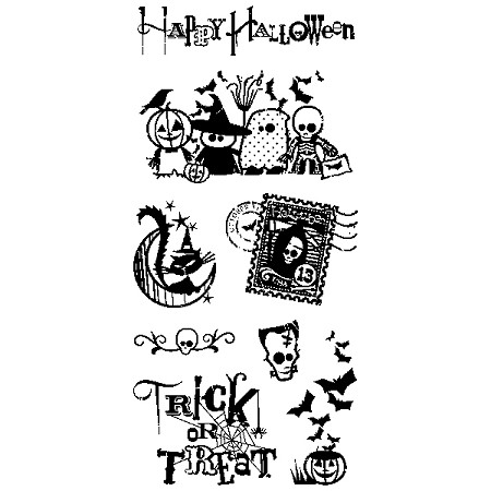 Inkadinkado Clear Stamps - Trick Or Treat :)