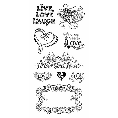 Inkadinkado Clear Stamps - Love & Friendship