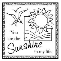 Inkadinkado Clear Stamps - Sunshine In My Life