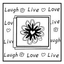 Inkadinkado Clear Stamps - Live Love Laugh
