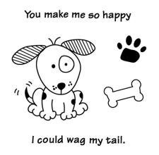 Inkadinkado Clear Stamps - Wag My Tail