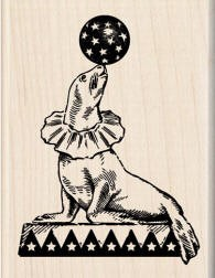 Inkadinkado Wood Mounted Rubber Stamp - Big Top Seal