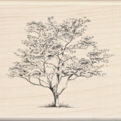 Inkadinkado Wood Mounted Rubber Stamp - Small Dogwood