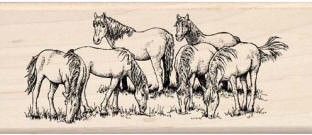 Inkadinkado Wood Mounted Rubber Stamp - Out to Pasture