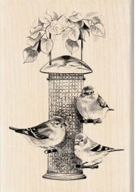 Inkadinkado Wood Mounted Rubber Stamp - Bird Feeder :)