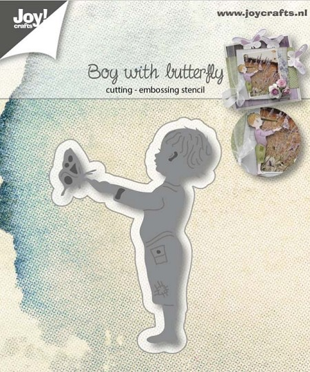 Joy Crafts - Cutting Die - Little Boy with Butterfly