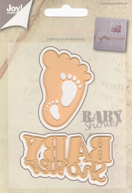 Joy Crafts - Cutting & Embossing Die - Baby Shower Baby Feet