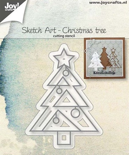 Joy Crafts - Cutting Die - Sketch Art Christmas Tree