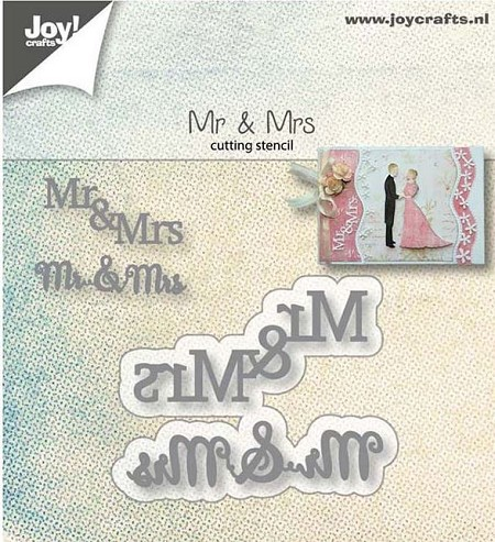 Joy Crafts - Cutting Die - Mr & Mrs