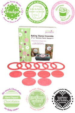 "Just Rite-2~5/16"" Round Stamp Set-Borders & Centers-Baking Set"
