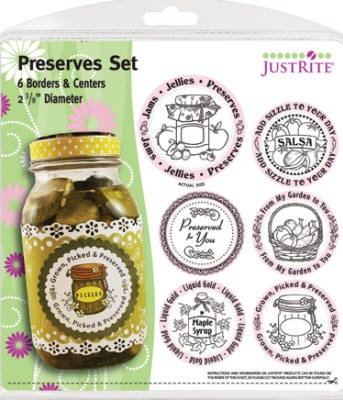 "Just Rite-2~3/8"" Round Stamp Set-Preserves Borders & Centers"