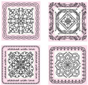 "Just Rite-2"" Square Stamp Set- Applique Centers/Borders"