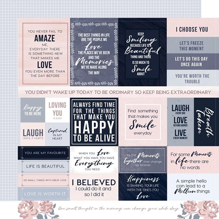"KaiserCraft - Breathe Collection - Clear Skies (12""x12"" Double Sided Paper)"