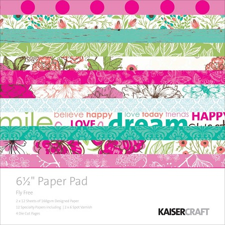 "KaiserCraft - Fly Free Collection - 6.5""x6.5"" Paper Pad"