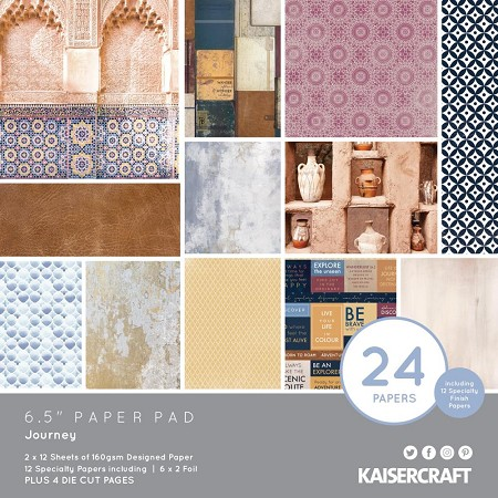 "KaiserCraft - Journey Collection - 6.5""x6.5"" Paper Pad"