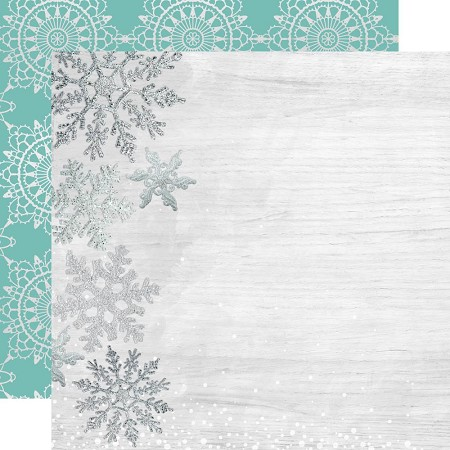 "KaiserCraft - Let It Snow Collection - Delightful (12""x12"" Foiled Paper)"