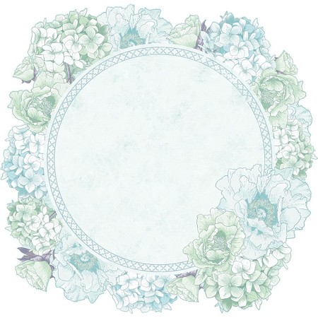 "KaiserCraft - Lilac Whisper Collection - 12""x12"" die-cut Cardstock - Hydrangea Wreath"