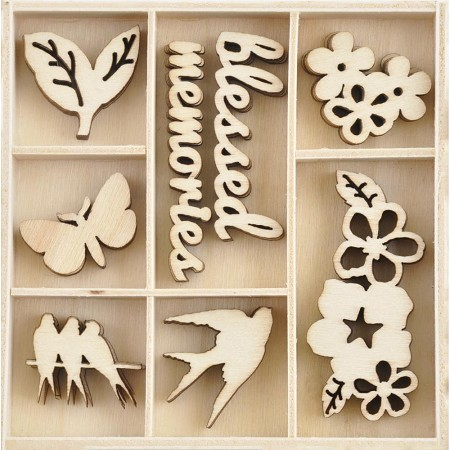 KaiserCraft - Morning Dew Collection - Morning Dew Wooden Shapes