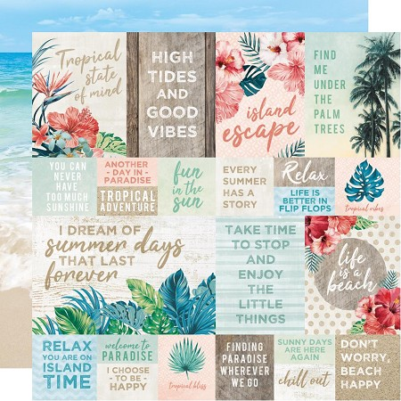 "KaiserCraft - Paradise Found Collection - Tides (12""x12"" Double Sided Paper)"