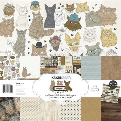 KaiserCraft - Pawfect Collection - Cat Paper Pack
