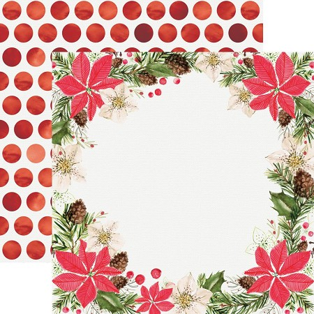 "KaiserCraft - Peace and Joy Collection - 12""x12"" Double Sided Paper - Festivity"