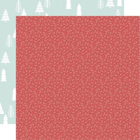 "KaiserCraft - Peppermint Kisses Collection - Holly Jolly (12""x12"" Double Sided Paper)"