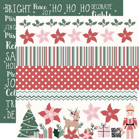 "KaiserCraft - Peppermint Kisses Collection - Ho Ho Ho (12""x12"" Double Sided Paper)"