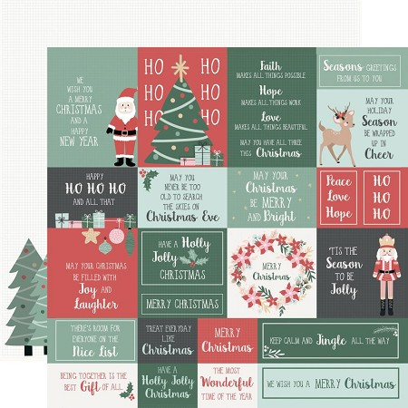 "KaiserCraft - Peppermint Kisses Collection - Under The Tree (12""x12"" Double Sided Paper)"