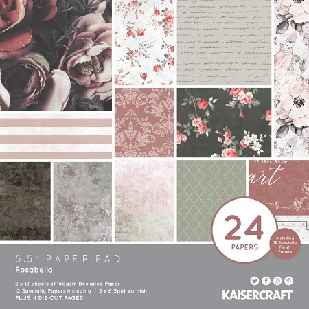 "KaiserCraft - Rosabella Collection - 6.5""x6.5"" Paper Pad"
