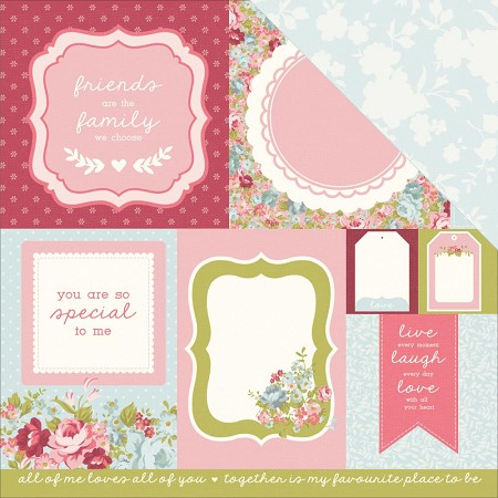"KaiserCraft - Secret Garden Collection - 12""x12"" Double Sided Cardstock - Path"