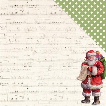 "KaiserCraft - Silent Night Collection - 12""x12"" Double Sided Cardstock - Making A List"