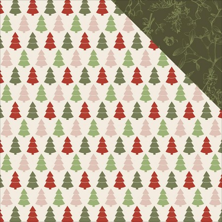 "KaiserCraft - Silent Night Collection - 12""x12"" Double Sided Cardstock - Trim The Tree"