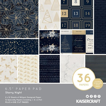 "KaiserCraft - Starry Night Collection - 6.5""x6.5"" Paper Pad"