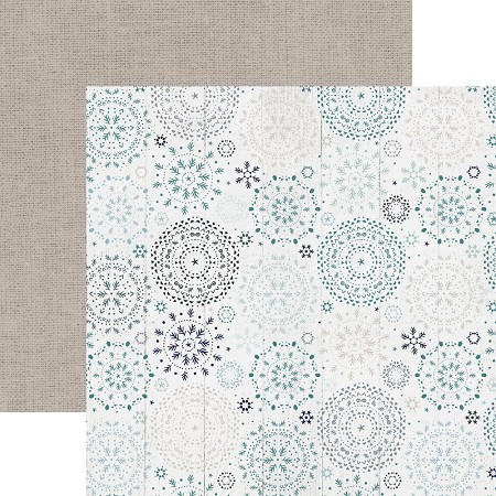 "KaiserCraft - Wonderland Collection - 12""x12"" Double Sided Paper - Snowfall"