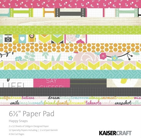 "Kaiser - Happy Snaps Collection - 6.5""x6.5"" Paper Pad"
