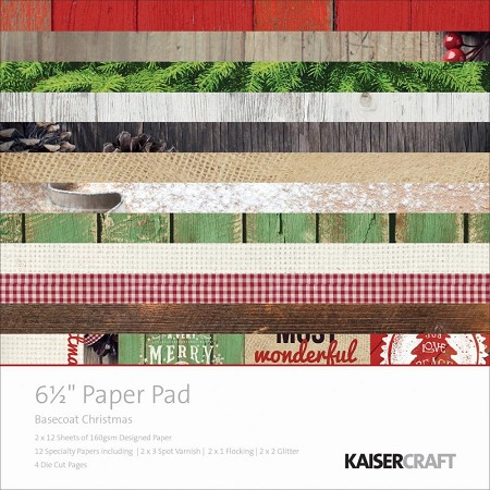 "Kaiser - Base Coat Christmas Collection - 6.5"" Paper Pad"
