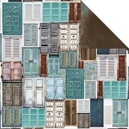 "KaiserCraft - Blue Bay Collection - 12""x12"" Double Sided Cardstock - Sky Blue"