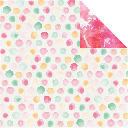 "KaiserCraft - Cherry Blossom Collection - 12""x12"" Double Sided Cardstock - Tranquil"