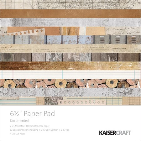 "KaiserCraft - Documented Collection - 6.5""x6.5"" Paper Pad"