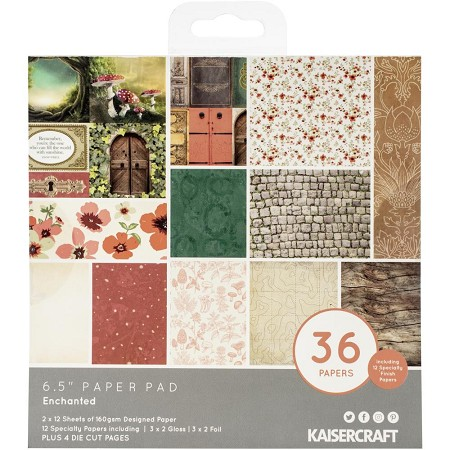 "KaiserCraft - Enchanted Collection - 6.5""x6.5"" Paper Pad"