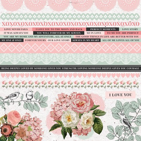 "KaiserCraft - Everlasting Collection - 12""x12"" Sticker Sheet"