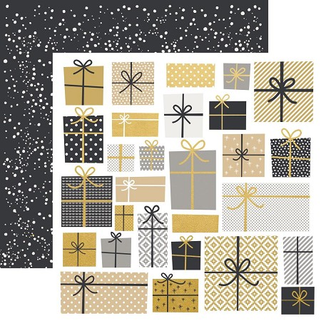 "KaiserCraft - First Noel Collection - 12""x12"" Double Sided Paper - Wrapped (gold foiled)"