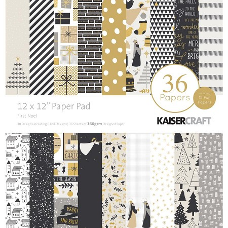 "KaiserCraft - First Noel Collection - 12""x12"" Paper Pad (some foiled)"