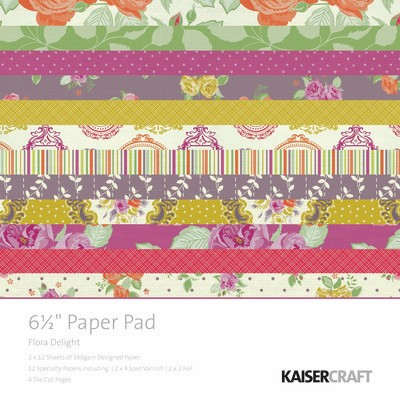 "KaiserCraft - Flora Delight Collection - 6.5"" x 6.5"" Paper Pad :)"