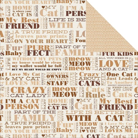 "KaiserCraft - Furry Friends Collection - 12""x12"" Double Sided Cardstock - Loyal"