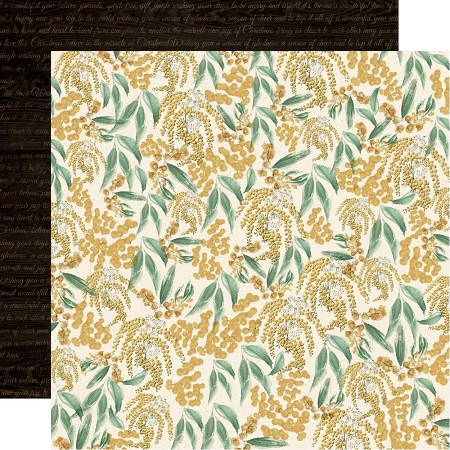 "KaiserCraft - Under The Gum Leaves Collection - Wattle (12""x12"" Double Sided Paper)"