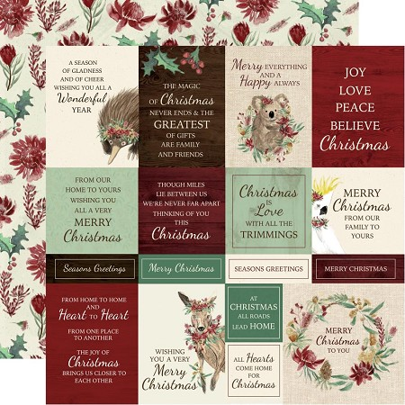 "KaiserCraft - Under The Gum Leaves Collection - Home For Christmas (12""x12"" Double Sided Paper)"