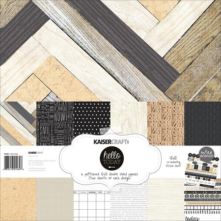 Kaisercraft - Hello Today Collection - Paper Pack :)